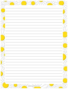 Writing Paper Freebie Cute  Great Printables Freebies