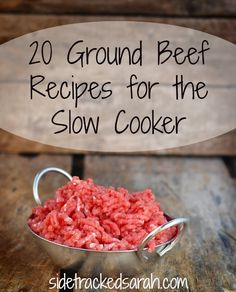 Nothing says easy crockpot meals more than these amazing ground beef slow cooker recipes! Not only do they save money, they save time, too! crockpot meals with ground beef Slow Cooker Ground Beef, Crock Pot Slow Cooker, Slow Cooker Recipes, Cooking Recipes, Ground Venison, Freezer Recipes, Ground Meat, Ground Beef Crockpot Meals, Healthy Recipes