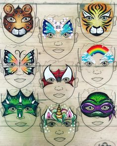 Designs by Emerald Face Painting Face Painting Images, Animal Face Paintings, Girl Face Painting, Face Painting Tips, Face Painting Tutorials, Face Painting Designs, Painting For Kids, Paper Flower Wreaths, Face Paint Makeup