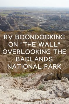 This boondocking spot is ranked by many as one of the top five RV camping spots in the United States. Camp on a ridge overlooking the Badlands National Park for free while enjoying the gorgeous view. Camping Spots, Rv Camping, Camping Hacks, Camping Hammock, Camping Ideas, Camping Trailers, Travel Trailers, Campsite, Glamping
