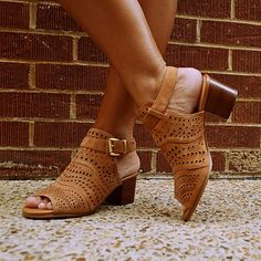 "Sandal - ""Fonda"" Tan $125.00"