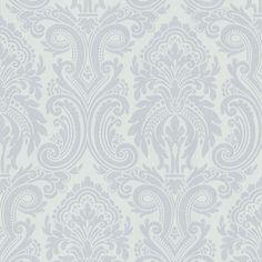 283-62975 Platinum Modern Damask - Apollo - Beacon House Wallpaper