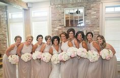 Very elegant and classy bridesmaids in Alfred Sung gown by #dessygroup. Style D692 available in different colors #bridalparty #bridal #bride #bridesmaids #bridesmaidsdresses #patsbridals #bridesmaiddress #wedding #miamiwedding #miamibride