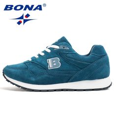 huge discount 1cf2b 81637 BONA New Popular Style Women Running Shoes Cow Split Breathable Lace Up  Sport Shoes Light Soft