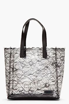 MARC BY MARC JACOBS Black Transparent Lace Tote