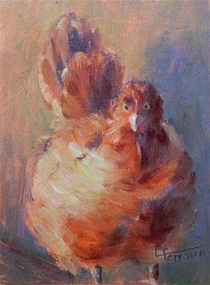 "Daily Paintworks - ""Plucky"" - Original Fine Art for Sale - © Lina Ferrara"