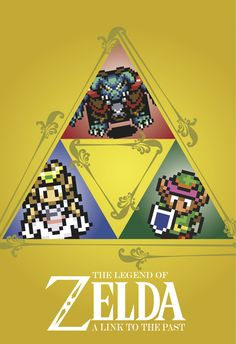 The Legend of Zelda: A Link to the Past Poster Art