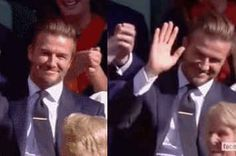 You Have To See David Beckham Casually Catching A Stray Tennis Ball At Wimbledon