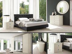 CAMERA AMBRA  Una camera matrimoniale che gioca sul contrasto: il letto è in ecopelle antracite, mentre il resto della composizione è in fin...