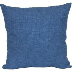 Mainstays Navy Solid Outdoor Toss Pillow, Blue
