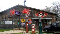 along with old gas stations, I also like old garage signs too !