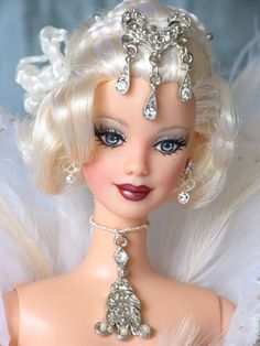 Fantasy Angel Barbie Doll Shushienae. Strikingly beautiful, exquisite face and costume make this very near my favorite