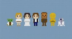 Star Wars Characters Cross Stitch Pattern by GeekyStitches on Etsy