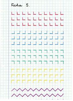 Caligrafía: Material de refuerzo (I) Improve Handwriting, Handwriting Practice, Pre Writing, Writing Skills, Notebook Drawing, Graph Paper Art, Writing Exercises, Paper Drawing, Montessori Materials