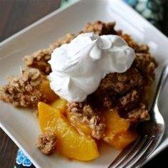 Moms Peach Crisp - Allrecipes.com