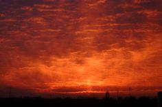 Sunset in southeastern Berlin (Jan. 25, 2003).