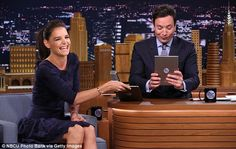 Full schedule: Afterwards, Katie appeared on The Tonight Show with Jimmy Fallon...
