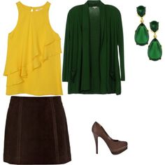 """""""Deep Winter - yellow"""" by adriana-cizikova on Polyvore. If you want wear yellow, choose deep shade with a touch of black."""