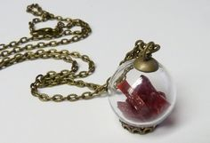 Red Glass Bubble Ball Pendant by ArtBoxDesign on Etsy, $22.00