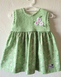 """For,Baby-Hand knitted dress for baby girl [ """"DaisyBlue - knitted dress for baby"""" ] Dresses For Baby Girls, Hands, Knit Baby Dress, Knit Baby Dress, Crochet Baby Clothes, Crochet Dresses, Baby Knitting Patterns, Sewing Patterns, Crochet Girls, Crochet Toddler, Toddler Girl Dresses, Baby Dresses"""