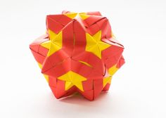 Star Sonobe is a modular origami model based on the classic sonobe unit. Learn how to fold from a video tutorial by Sara Adams.