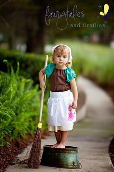 Working Cinderella Pure Princess Peasan Dress or Costume. $55.00, via Etsy.