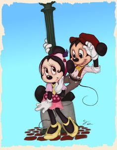 Cute! Mickey and Minnie. :)