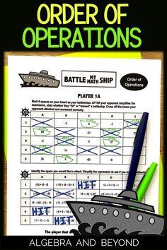 Middle school students love playing this order of operations game with a partner. It's not easy finding an activity that students are engaged while practicing their skills. Includes all negative numbers and all operations. Education Middle School, Math Education, Line Math, Simplifying Expressions, Operation Game, Negative Numbers, Fifth Grade Math, Teaching Plan, Math Graphic Organizers