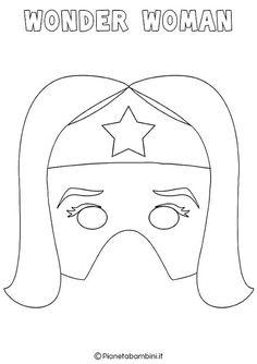 Superhero Party Games, Superhero Capes, Wonder Woman Mask, Imprimibles Toy Story, Spiderman Coloring, Hero Crafts, Dinosaur Mask, Felt Mask, Fairy Birthday Party