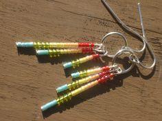 The Jocelyn Beaded Earrings in Colors of the by PhreshThreadz, $12.00