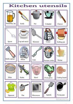 43 Best Kitchen English Vocabulary Images English Vocabulary