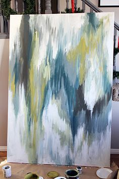 abstract ikat painting