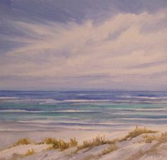 Water's Edge Seascape Beach Ocean Original Oil by RosieBrown11, $49.99