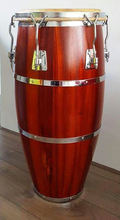 Restored and refinished Cuban Sonoc Conga Drum... Made in Havana, Cuba... 100% Cuban Mahogany....