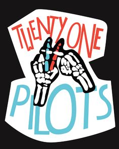 Twenty One Pilots Poster I really like the styles of the letters and the…
