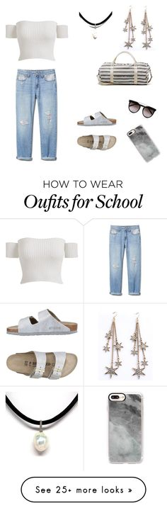 """School mufti day #1"" by boo-bear03 on Polyvore featuring Birkenstock, WithChic, Calvin Klein and Casetify"