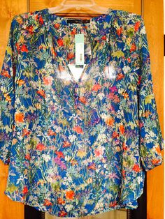 Fun2Fun. Myrtle V Neck Blouse. Did not keep this one.