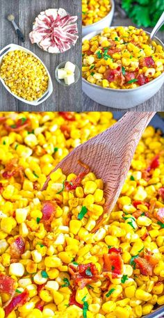 """This delicious corn and bacon side dish is """"What's For Dinner""""!? and you're going to love it!"""