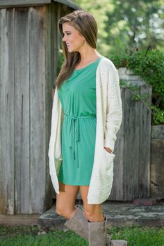 Wave You On By Cardigan, Cream