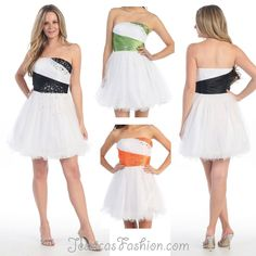 Elegant By Dress Length Homecoming dress in color White, Black, Purple & more - Strapless style in material: Sequin - $69 - Dress URL: http://www.jessicasfashion.com/Hand-beaded-sequins-mesh-short-prom-dress-MQ797.html