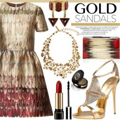 A fashion look from October 2015 featuring Valentino dresses, Giuseppe Zanotti sandals and Rauwolf clutches. Browse and shop related looks.