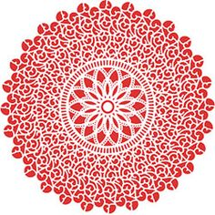 Lace Starburst Rubber Stamp