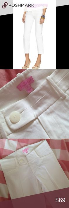 Lily Pulitzer Cropped Pant Lovely white cropped pants. NWOT Lilly Pulitzer Pants Ankle & Cropped