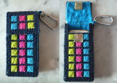 plastic canvas iphone case open and closed