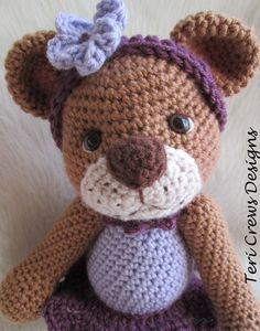 Darling+Bear+Crochet+Pattern+by+Teri+Crews+Wool+by+WoolandWhims,+$4.95
