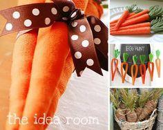 A Páscoa já está batendo na porta e nós preparamos um lista com 8 Incríveis ideias de decoração em formato de cenoura, super fáceis de reproduzir, para você deixar a sua casa no clima da data.