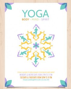 hnliches Foto  Yoga Flyer