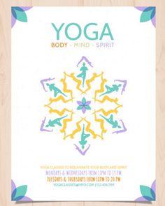 hnliches Foto  Yoga Flyer