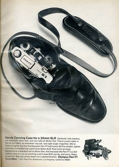"""40 years on & we're still using the """"compact"""" message for PEN....  Olympus Pen FT 1969 #ad #camera #olympus"""