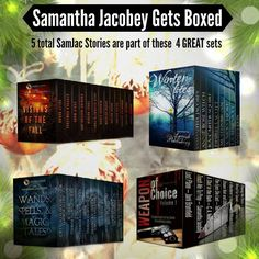 MERRY CHRISTMAS GIVEAWAYS  I decided to DO IT AGAIN - so jump in here for your chance to win one of these FANTASTIC boxed sets - 40 awesome reads in all!! WINTER LITES https://giveaway.amazon.com/p/c884c54f63a5eeee WANDS, SPELLS AND MAGIC TALES, https://giveaway.amazon.com/p/641074959bbc472e WEAPON OF CHOICE https://giveaway.amazon.com/p/87d4da84daa64450 VISIONS OF THE FALL https://giveaway.amazon.com/p/34bfdccfbe068fcb